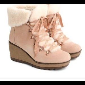 J Crew Nordic Wedge Leather Boots